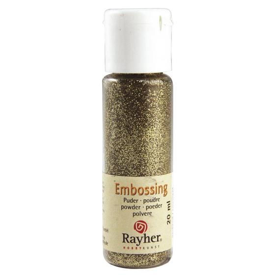 Embossing-Puder, 20 ml Flasche, brill.gold, deckend
