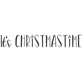 Stempel It´s Christmastime, 2x10cm